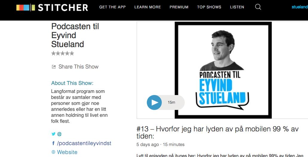 Eyvind Stueland Stitcher
